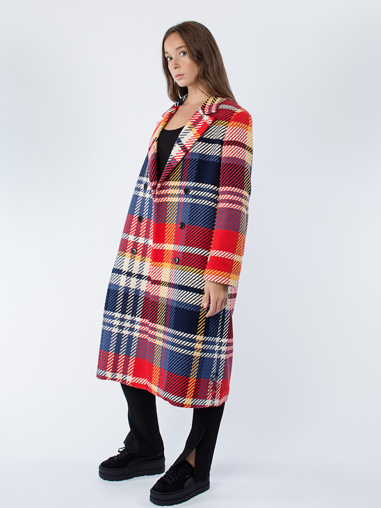 Play Check Crush Navy Red Coat