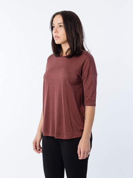 Elbow Sleeve Swing Top Fig