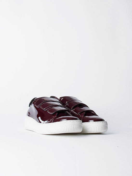 Velcro Sneakers Low Top Red
