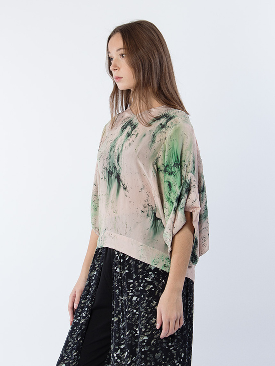 Nishio Hope Print Blouse