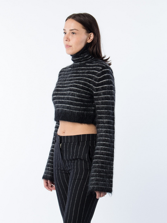 Fleet Sweater Black Stripe