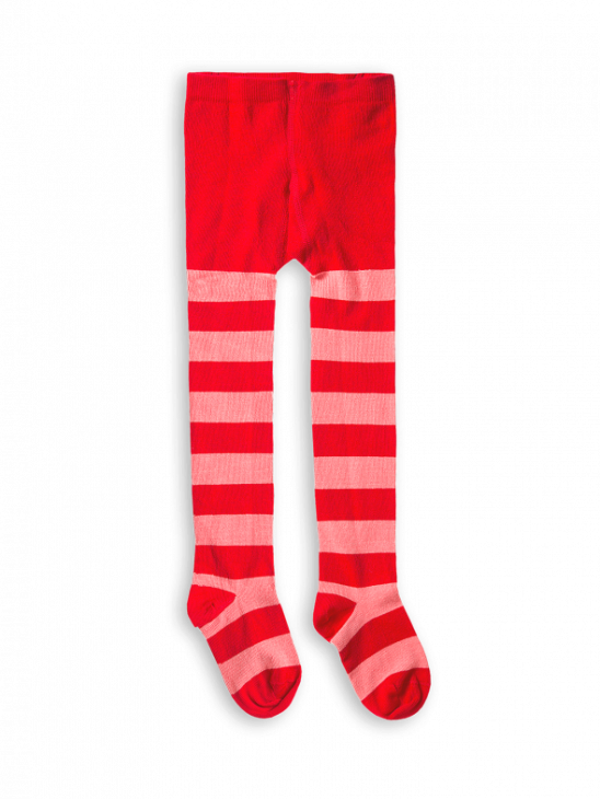 1 Pack Stripe Tights Red
