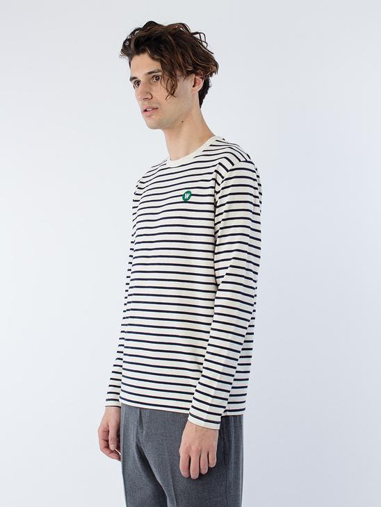 Mel Long Sleeve Navy Stripes