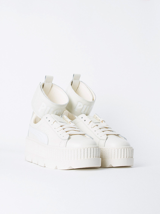Ankle Strap Sneaker White