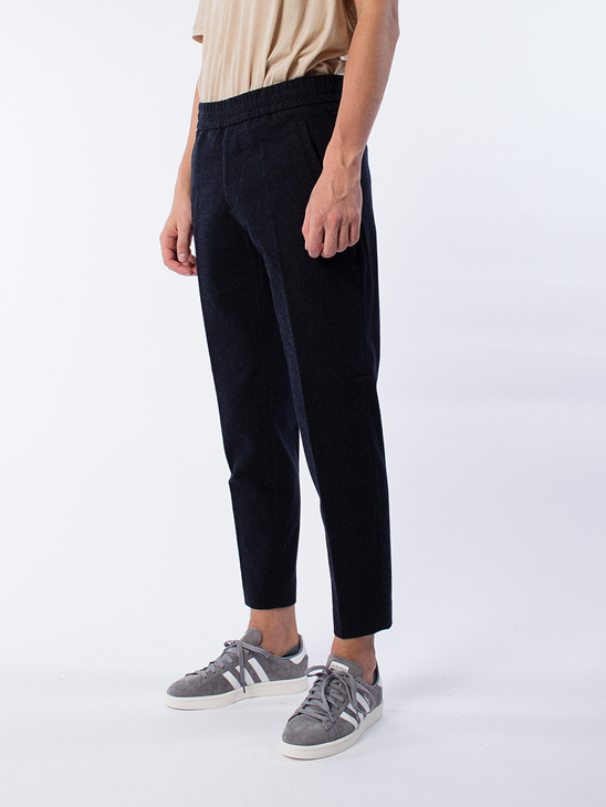 M. Terry Cropped Pants Navy Mel