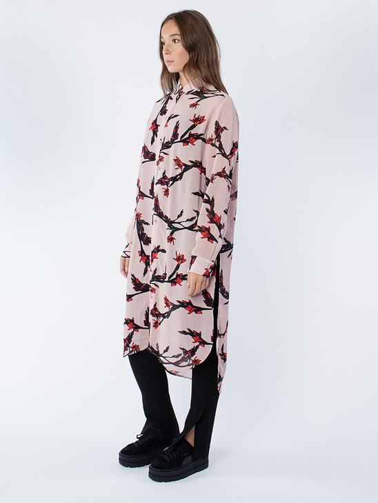 Riss Shirt Dress Aop 3902