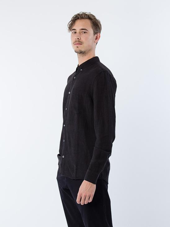 Arcade L/S Shirt Black Linen