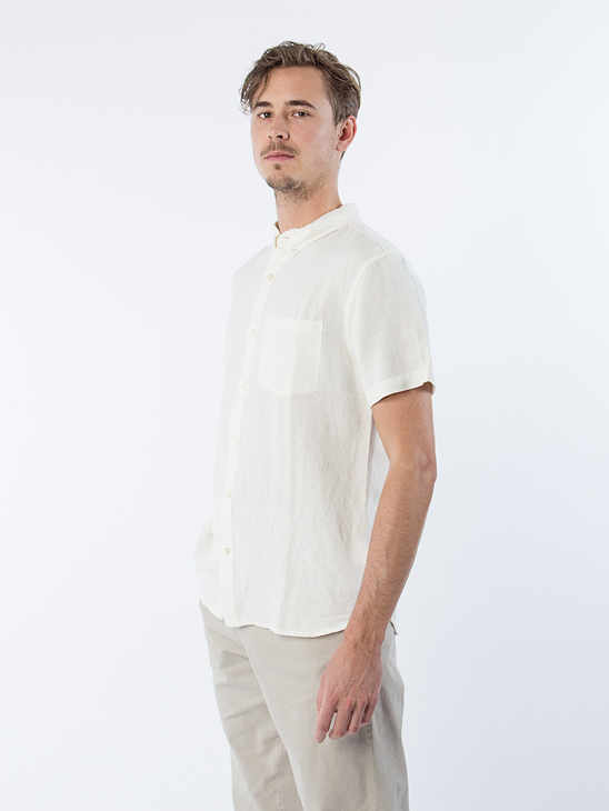 Arcade Shirt White Linen