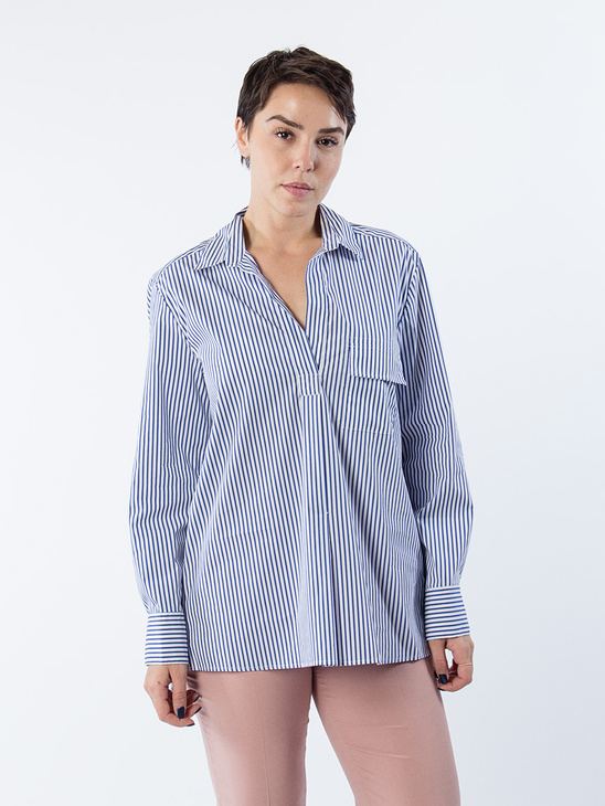 APLACE Relaxed stripe shirt - Filippa K