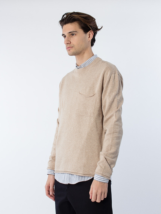 M. Cotton Linen Light Knit Greige
