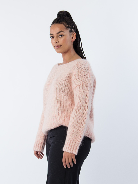 Atelina Knitted Pullover Pink