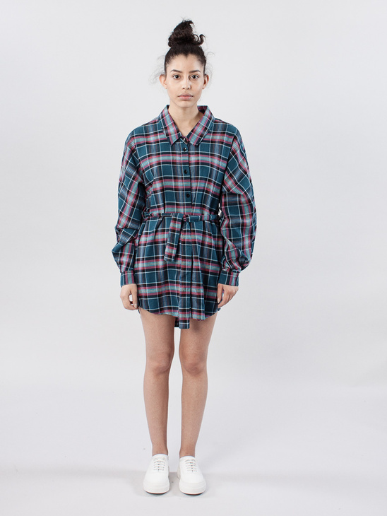 APLACE Dress Barba Flannel - Mini for Many